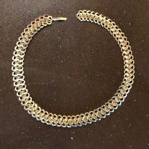 """Fun chunky gold necklace 3/4"""" wide 17"""" long linked"""